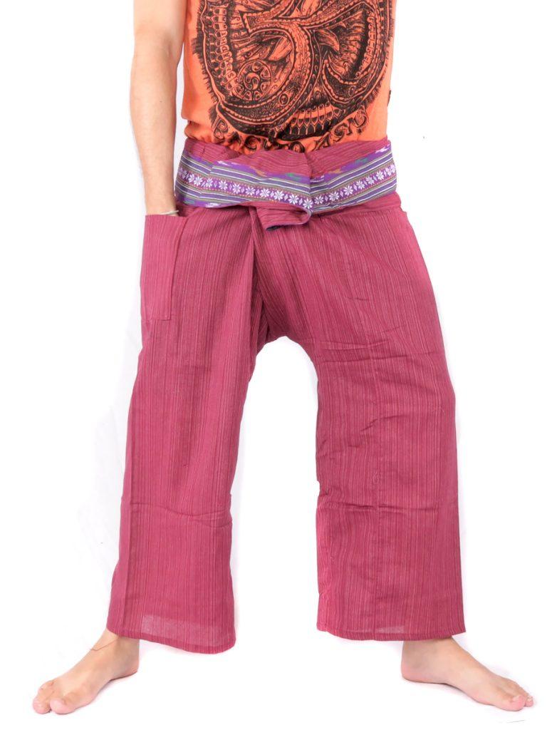 Thai Fisherman Pants Stripe Mix Cotton