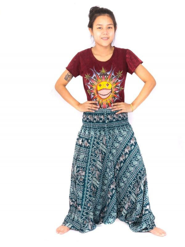 Elephant Pants Drop Crotch Onesie Jumpsuit Rayon