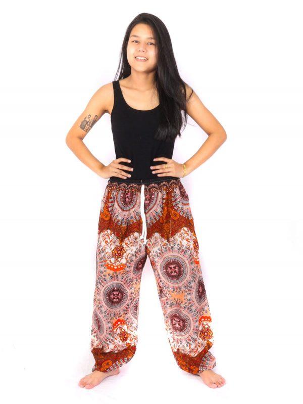 Harem Hippie Thai Pants Red