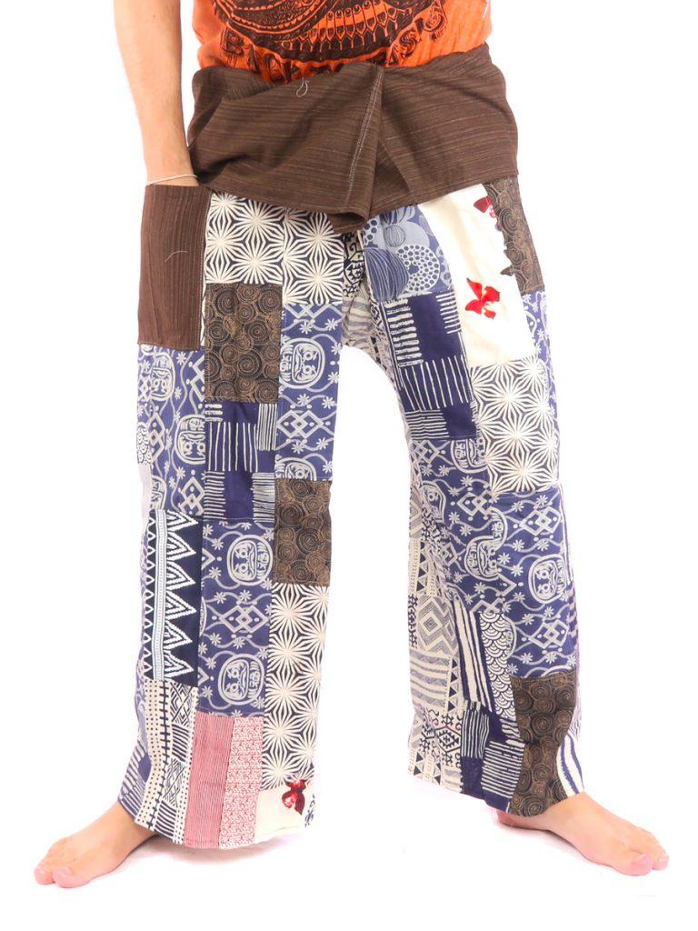 Thai Fisherman Pants Patchwork Size XL Extra Long