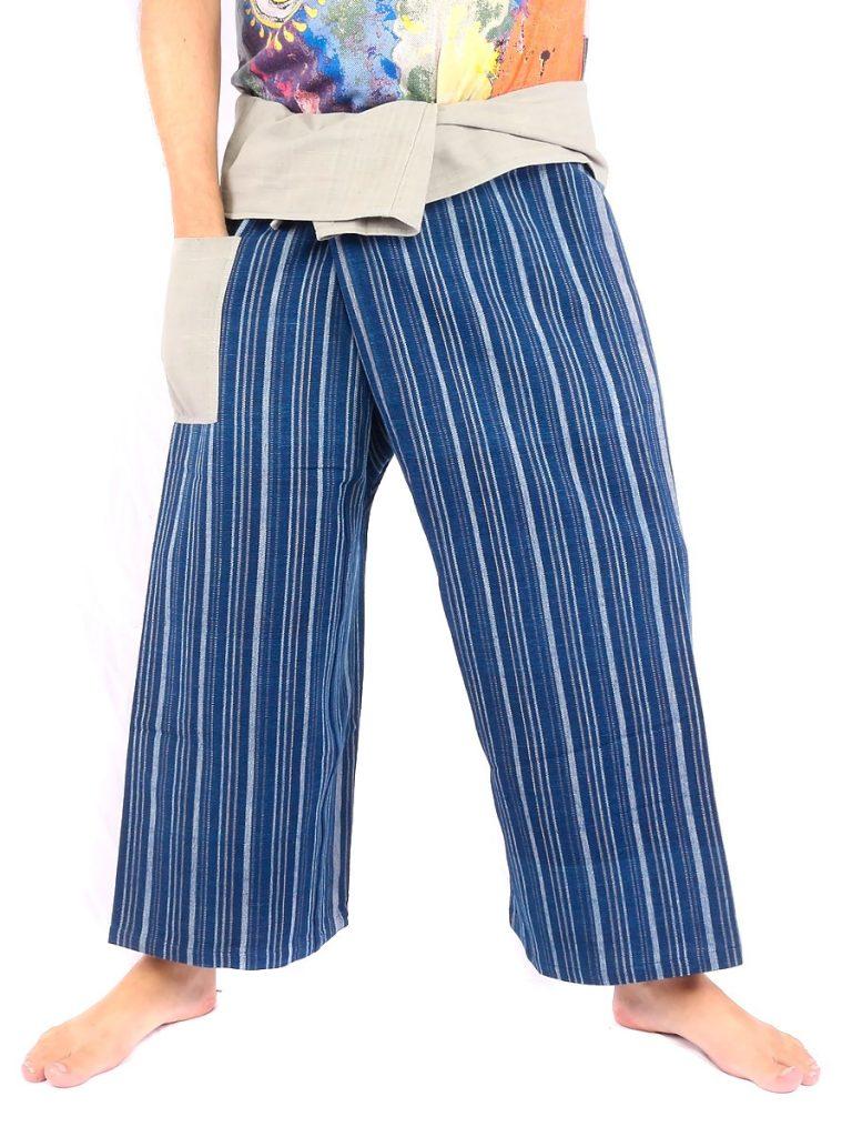 Organic Thai Fisherman Pants Natural Dyes traditionally Handwoven