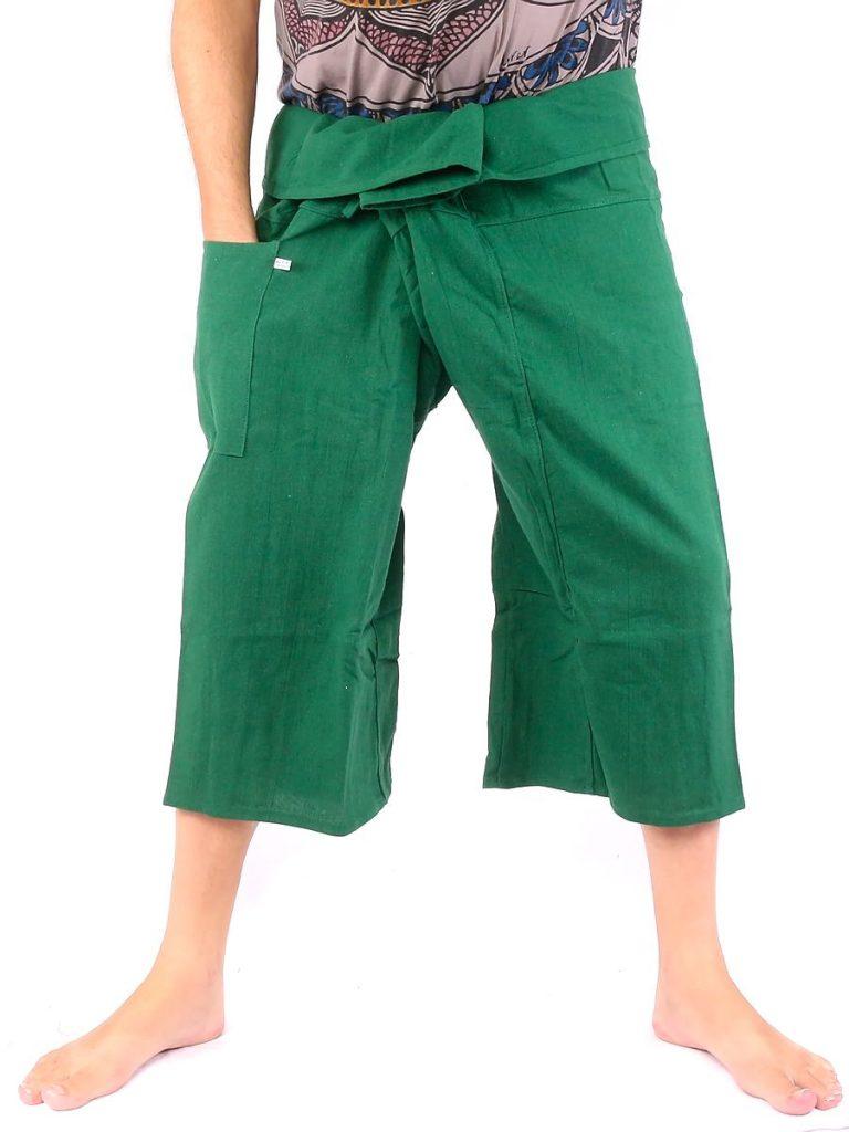 Authentic Thai Fisherman Pants extra thick Cotton Size Capri Shorts